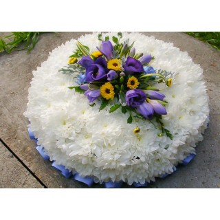 Blue & White Based Posy Pad
