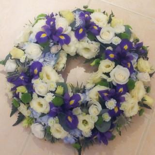 Blue & White Loose Wreath