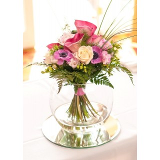 Beautiful Pink & Cream Hand Tied Fish Bowl Designs