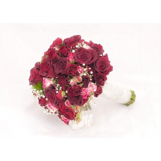 Black Baccara Rose Hand Tied