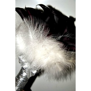Black Calla & Feathers Hand Tied
