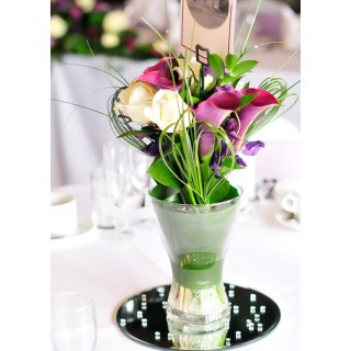 Calla Lily, Rose & Sweet Pea Hand Tieds