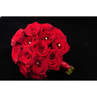 Grand Prix Rose Hand Tied Bouquet