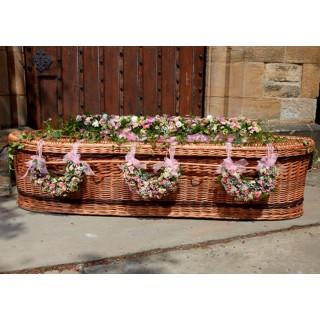 Six Crecent shaped designs of mixed seasonal Flowers & Foliage