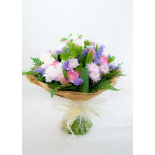 Mixed Seasonal Flower Hand Tied Bouquet