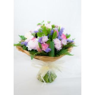 Mixed Seasonal Flower Hand Tied Bouquet