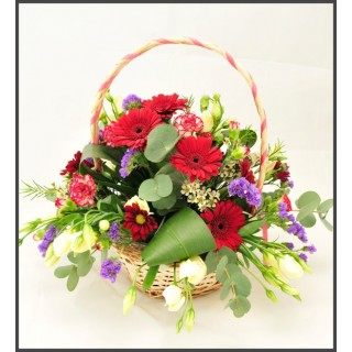 All Round Wicker Basket Arrangement