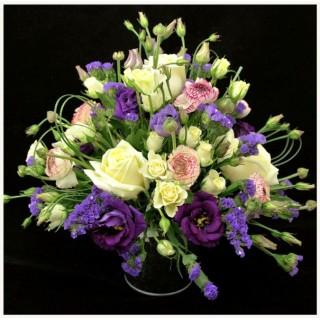All Round Mixed Flower & Foliage Zinc Pot Arrangement