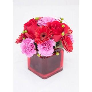 Ceramic All Round Mixed Flower Arrangement