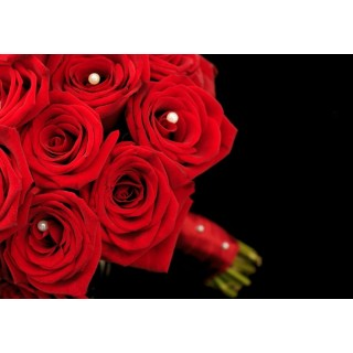 Grand Prix Rose Hand Tied Dressed with Satin Ribbon & Pearl Pins
