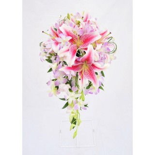 Star Gazer Lily & Dendrobium Orchid Shower Bouquet