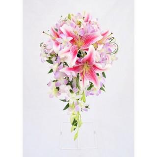 Star Gazer Lily & Dendrobium Orchid Shower Bouquet