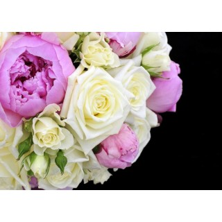 Peony & Rose Hand Tied Bouquet