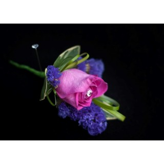 Rose & Statice Buttonhole