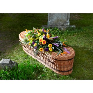 Exotic Mixed Double Ended Casket / Coffin Spray