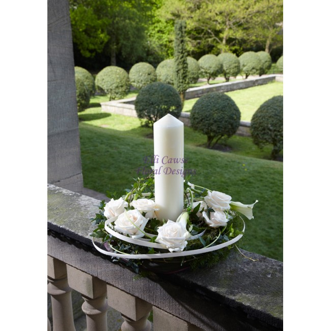 "9""Candle Arrangement - - £50.00 - Elli Cawse Floral Designs"