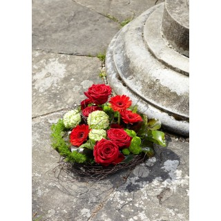 Red & Green Country Style Posy