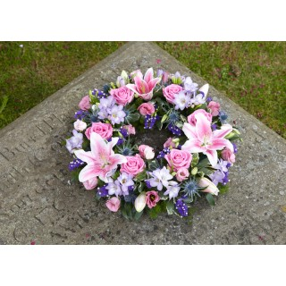 Wreath including Lilys & Roses