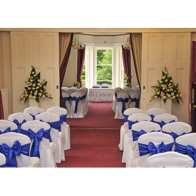 Floral Designs to dress Oakwood House Ceremony Room