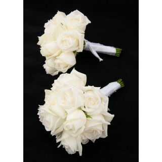 Ivory Rose Hand Tied