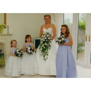 Lilac & White Traditional Elongated Shower Boquet