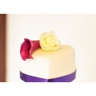 Simple & elegant Calla & Rose cake topper