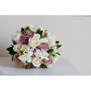 Soft Dusky Pinks & Cream Hand Tied