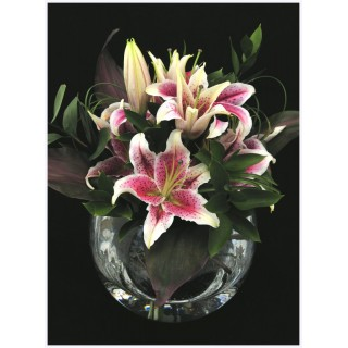 Star Gazer Lily & Foliage  in Large Fish Bowl Vasecopy